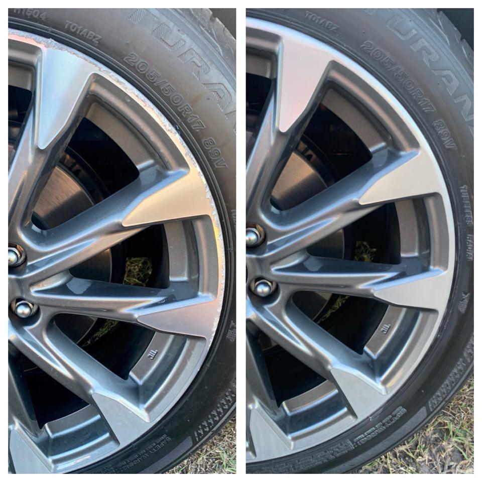 gutter scratched wheel repair Gold Coast 0402029277